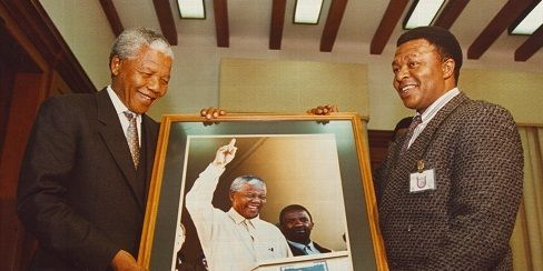 Mandela and Juda Ngwenya