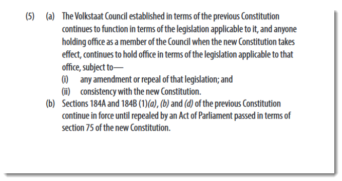484 - Constitution of the Republic of South Africa, Schedule